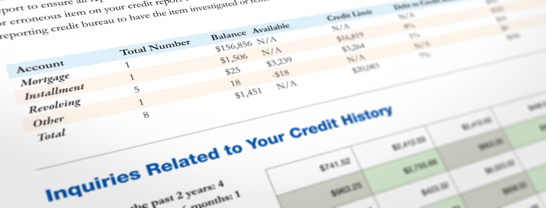 Credit inquiries on tre-merge credit report
